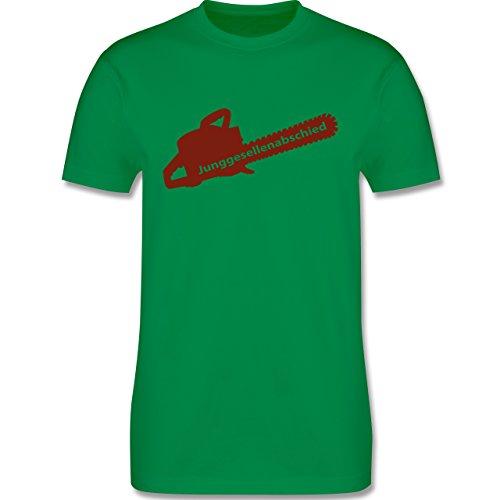 JGA Junggesellenabschied - Kettensäge - Herren Premium T-Shirt Grün