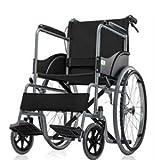 Shree surgical basic premium wheel chair foldable black ShreeSurgicals Basic Premium wheel chair