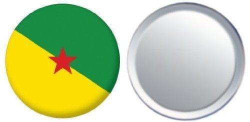 Miroir insigne de bouton Guyane française drapeau - 58mm