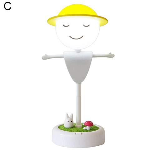 P12cheng LED-Nachtlicht, Cartoon-Touch Sensor, Vogelscheuche LED-Nachtlicht, Bluetooth-Lautsprecher, Nachttischlampe C -