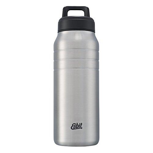Esbit Vacuum Flask Majoris | Stainless Steel | BPA-free | Black, Silver | 0,7L & 1L | Large Opening | Water, Sport, Yoga