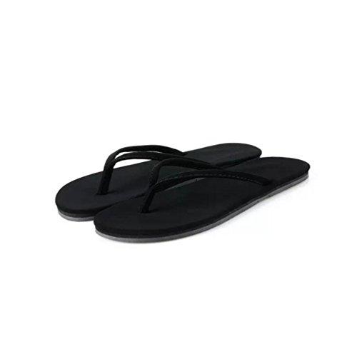 Baymate Donna Semplice Stile Infradito Casuale Spiaggia Pantofole Sandali Nero