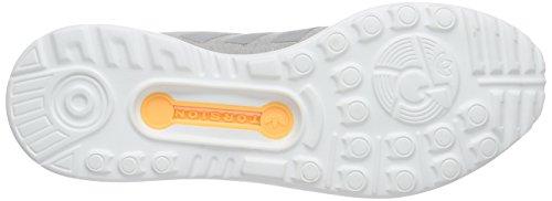 adidas Originals Zx Flux Smooth, Baskets Basses Femme Gris - Grau (Mgh Solid Grey/Mgh Solid Grey/Solar Gold)