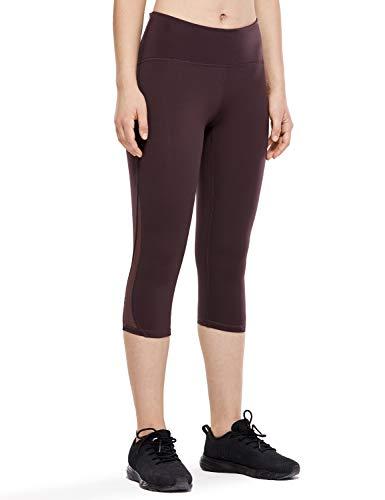 CRZ YOGA Mujer 3/4 Malla Leggings Deportivos Pantalones