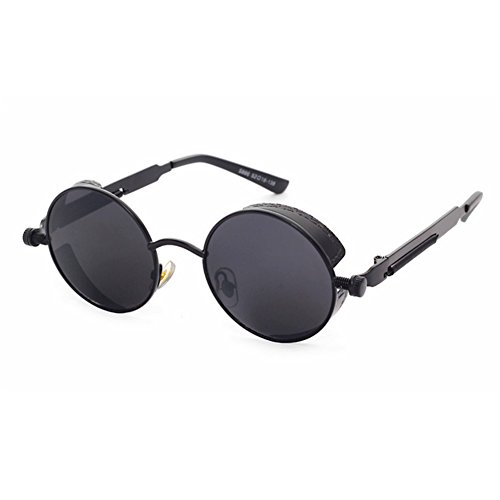 Gothic Round Steampunk Sunglasses Women Fashion 2016 Brand New Retro Vintage Mirror Circle Sun Glasses Metal Designer Eyewear