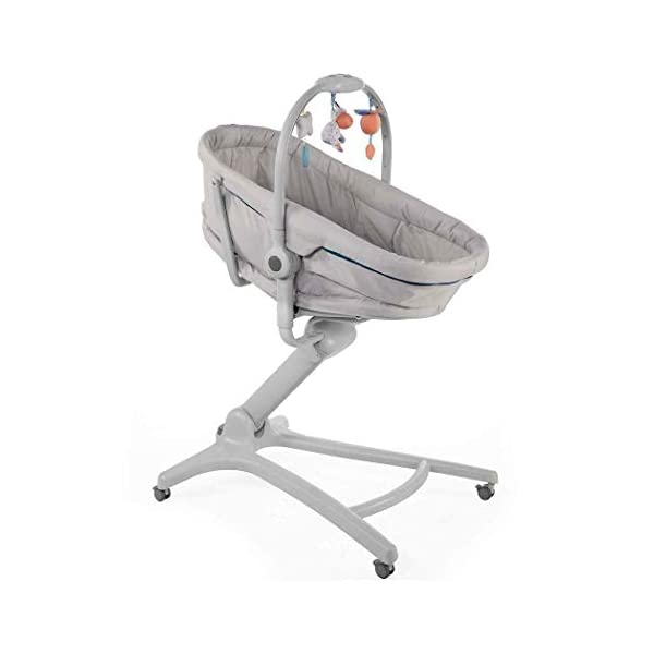 Chicco Baby Hug 4-in-1 Solution Glacial, 10.2 kg Chicco Multifunctional solution: comfy crib, a recliner from birth, a convenient highchair and finally your child's first chair from 6 months Adjustable height and backrest and 4 wheels Removable reducer to make the recliner suitable from birth 2