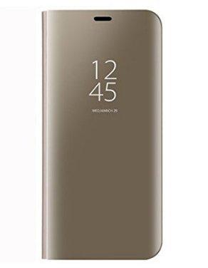 BCIT Xiaomi Redmi Note 5A Funda - Modelo inteligente Fecha / Hora Ver Espejo Brillante tirón del caso duro Con para el Xiaomi Redmi Note 5A - Oro