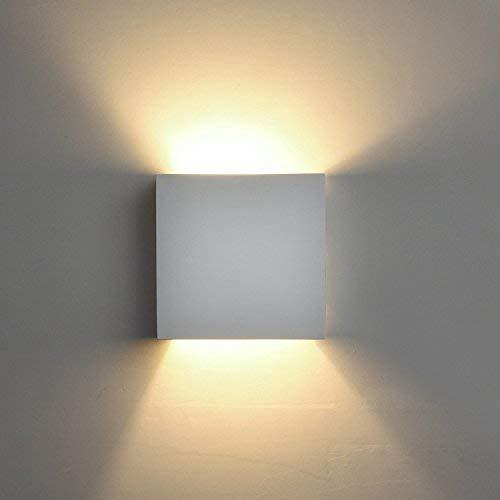 Lámpara de Pared de Cerámica DECKEY, Iluminación Decorativa en Yeso Luz de...