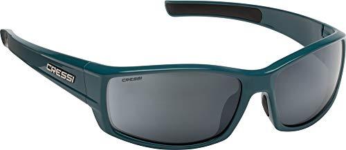 Cressi Unisex- Erwachsene Hunter Sunglasses Sport Sonnenbrille, Öl/Verspiegelte Linsen Silber, One Size