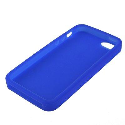 Wkae Case Cover Qualitäts-reine Farben-Silikon-Kasten für iPhone 5 &5s &SE ( Color : Dark Blue ) Dark Blue