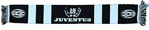 Bufanda Juventus 100% poliéster tricolor 130 x 18 cm