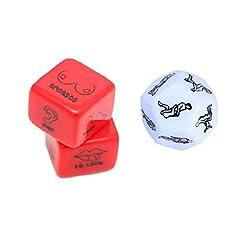 Idea Regalo - SUPVOX 3 pezzi divertenti e romantici giochi di ruolo gioco di dadi regalo novità per addio al nubilato luna di miele