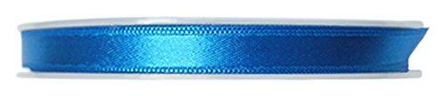 P & B Hohe Qualität Double Face Satinband, Polyester, Blau, 9mm x 25m -