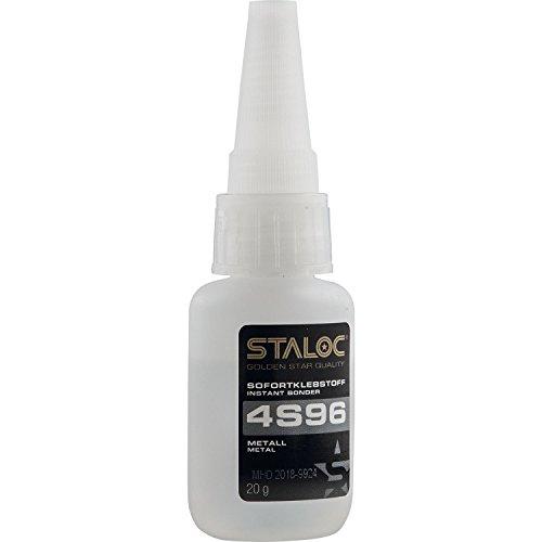 STALOC Sofortklebstoff 4S96 | Sekundenkleber Metall (Stahl, Edelstahl, Alu, Kupfer...) | 20 g