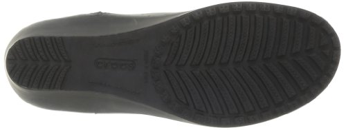 Crocs A-leigh Leather Bootie, Damen Stiefeletten Schwarz (Black/Black)