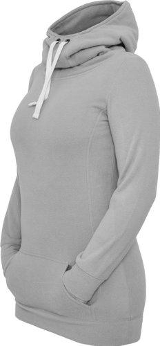 Urban Classics Ladies Long Polar Hoody, Color:grey;Größe:S