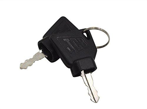 QTMY Ignition Keys for JCB Heavy Equipment 2 Pack