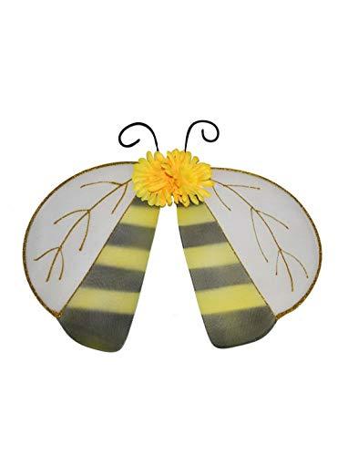 Luxuspiraten - Kostüm Accessoires Zubehör Kinder Flügel im Marienkäfer und Hummel Bienen Look, Wings Ladybug and Bee, perfekt für Karneval, Fasching und Fastnacht, Gelb (Bee Flügel Kostüm Zubehör)