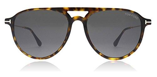 Tom Ford Unisex-Erwachsene FT0587 52A 56 Sonnenbrille, Braun (Avana Scura/Fumo),