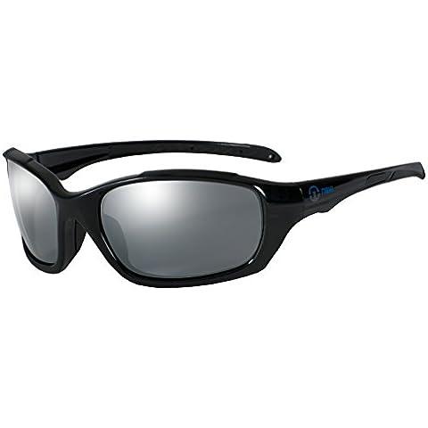 nexi Deportes Gafas Gafas de sol S de 6Ideal para conducción con polarización, S-6A-P SHINY Black (mit
