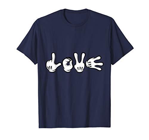 Cartoon Love Hands - Shifter Geschenk - T-Shirt -