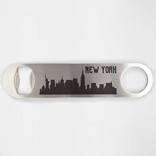 New York Skyline Edelstahl Heavy Duty Flat Bar Schlüssel Bier Lasergravur Flaschenöffner