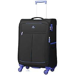 """Verage Mercury Ultra Light Trolley BLACK S-47 cm (18.5"""" 38L) Koffer Suitcase Handgepäckkoffer Reisekoffer Marken-Qualitätsware Spitzenverarbeitung Super leicht nur 2kg!"""