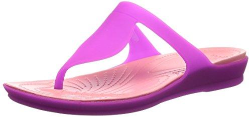 crocs Damen Crocsárioáflipáw Sandalen Vibrant Violet/Melon