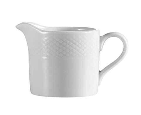 CAC China BST-PC Boston 2-Inch 4-Ounce Super White Porcelain Creamer,