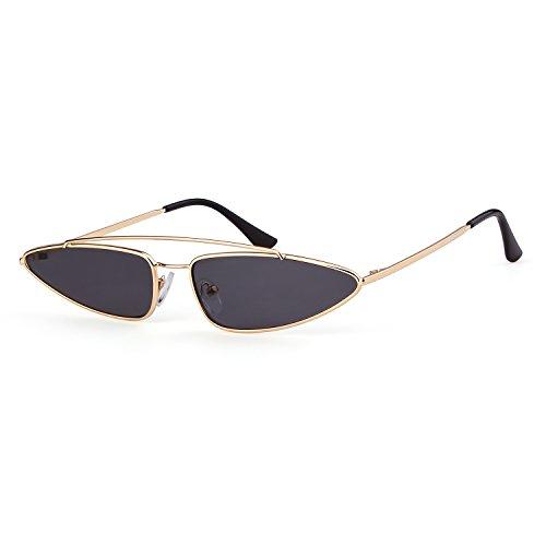 ADEWU Kleine Metall Cat Eye Sonnenbrille 2018 Vintage Retro Designer für Damen Herren