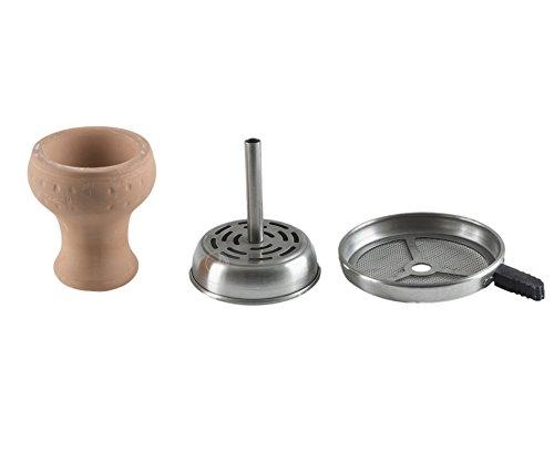 Aladin Shisha Kaminkopf-Set Mockingbird mit Griff, Tabakkopf, Tabaktopf mit Kamin für Wasserpfeifen