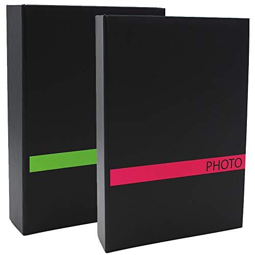 CPC Lot de 2 Albums Photo à Pochettes Sensation VRS pour 200 Photos 10x15
