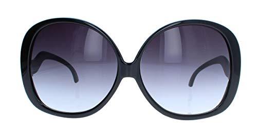 amashades Vintage Classics Übergroße Damen Sonnenbrille im Stil der 60er 70er Jahre Sixties Pantobrille o CY12 (Schwarz)
