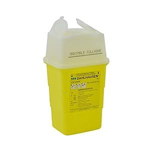 Sharpsafe: Abwurfbehälter, Sammelbehälter, Kanülenabwurfbehälter für Spritzen, Kanülen o.ä., ideal für Arztpraxen und Krankenhausabfälle, Füllmenge: 1 L