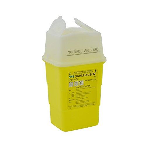Sharpsafe: S Conteneur, Récupération, Poubelle à aiguilles pour seringues, canules o.ä., idéal pour cabinets médicaux et Hôpital de déchets, capacité: 1l