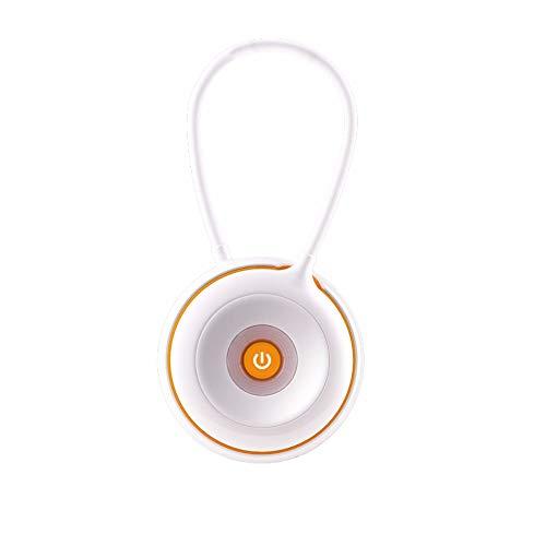Merkfunktion mit flexibel Schwanenhals wiederaufladbare Drehbarer Leseleuchte tragbare Bettleuchte Leselampe blendfreiUSB wiederaufladbare tragbare Schreibtischlampe, Zitrusorange