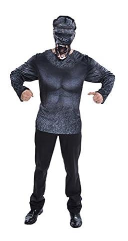 ,Karneval Klamotten' Kostüm fotorealistisches 3D-Shirt Animal Gorilla Affe Herren Herrenkostüm Einheitsgröße