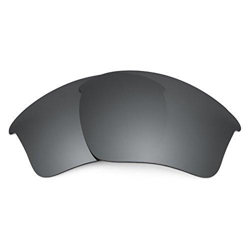 Revant Ersatzlinsen für Oakley Half Jacket 2.0 XL Polarisierung Schwarz Chrom MirrorShield®