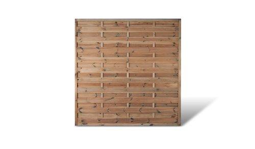 meingartenversand.de Zaundiscount 6 x Sichtschutz Gartenzaun Maß 180 x 180 cm aus Kiefer/Fichte Holz, druckimprägniert Berlin Massiv Set -