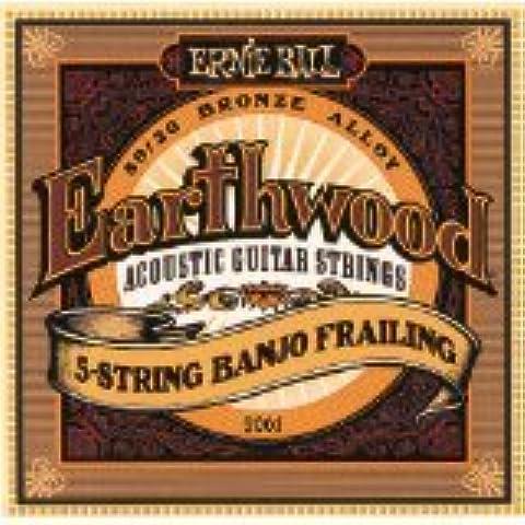 Ernie Ball 2061Earthwood 5String Banjo frailing corde 10–24(2confezioni)