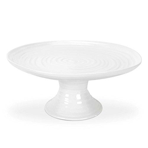 Sophie Conran pour Portmeirion Assiette à gâteau sur Pied, Porcelaine, Blanc, 24.5 x 24.5 x 11 cm