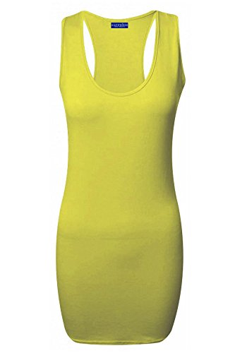 Xclusive Collection Damen Schlauch Kleid Gelb