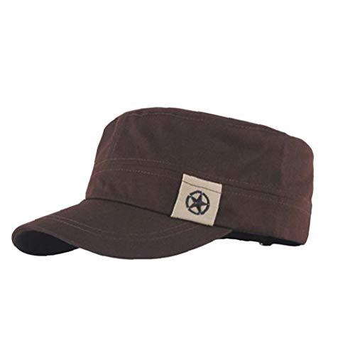 Aisoway Unisex Flachdach Military Hat Cadet Patrol Bush-Hut Baseball Caps Gelegenheits (Armee Cadet Kostüm)