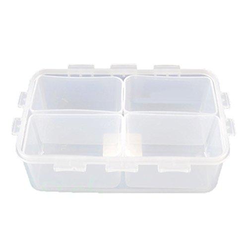 Boîte de Rangement 4 Compartiments Multi-usages Plastique Organisateur