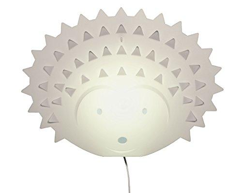 Zzzoolight lampada applique murale per bambini a forma di Riccio, lampada LED 5V, con luce a due intensità, normale/notturna, made in Italy
