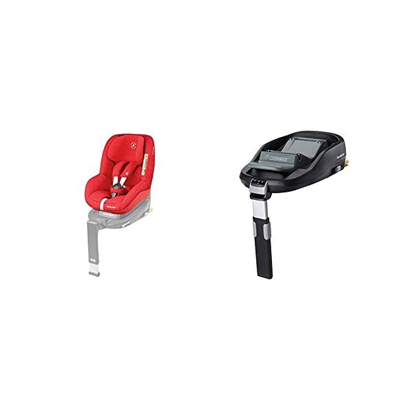 Maxi-Cosi Pearl Toddler Car Seat Group 1, ISOFIX Car Seat, Compact, 9 Months-4 Years, 9-18 kg, Nomad Red with FamilyFix ISOFIX Base Suitable for CabrioFix and Pearl, Black Maxi-Cosi Isofix anchorages provides the safest, easiest and quickest way to install a car seat Innovative stay open harness stays open to easily get the child in and out in seconds ISOFIX car seat base suitable for children up to 18 kg (from birth to 4 years) 1