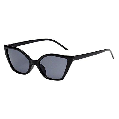 Makefortune Frauen Sonnenbrillen, Frauen-Weinlese-Katzenaugen-Sonnenbrille-Retro- kleiner Rahmen UV400 Eyewear arbeiten Damen-Gläser um (C1)