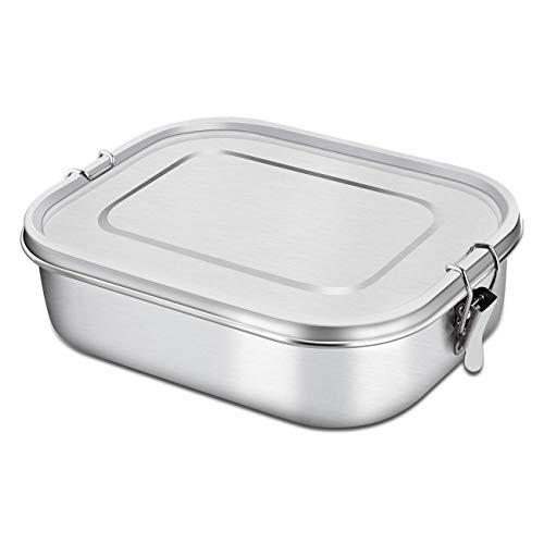 Render Bento Lunch Boxs 49 OZ Edelstahl Lunchbox Lebensmittelbehälter mit Verschlussclips (insgesamt 49 OZ)