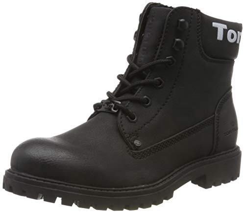 TOM TAILOR für Frauen Schuhe Boots mit Logo-Print Black, 39
