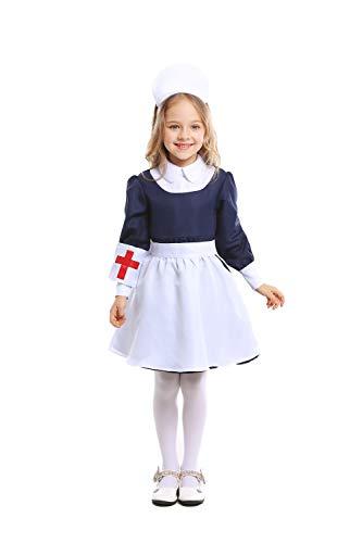 LOLANTA Mädchen Krankenschwester / Maid Kostüm Halloween Kostüm Outfit